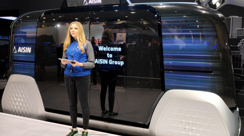 AISIN electric Van at CES 2020