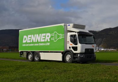 Renault Trucks D ZE fitted with solar panels