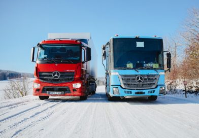 eActros and eEconic go Winter testing !