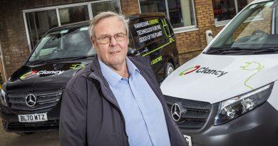Clancy drives Mercedes-Benz eVitos